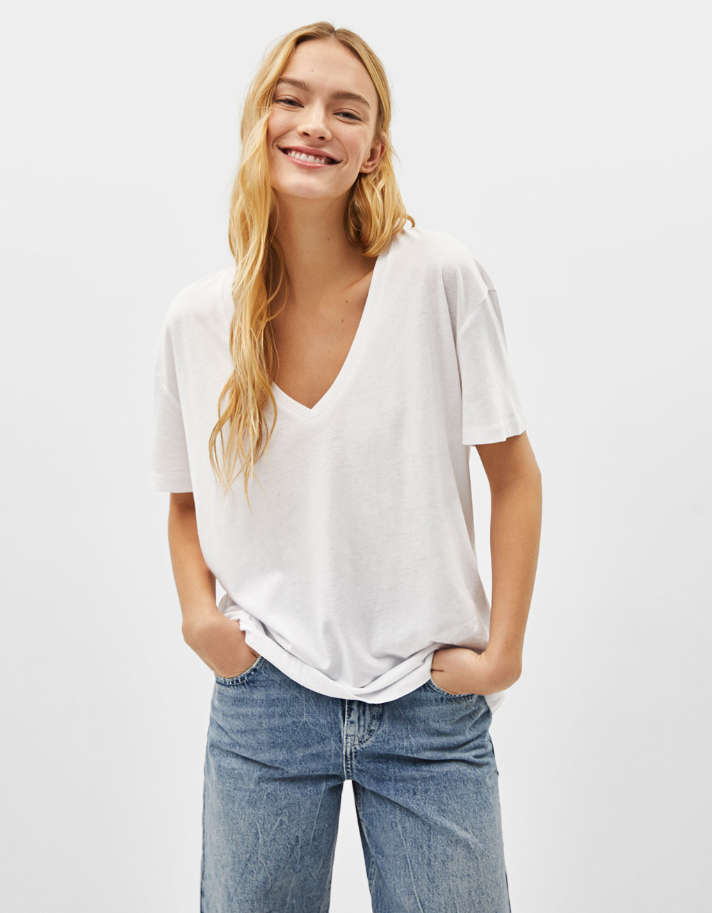 T-Shirts - COLLECTION - WOMEN - Bershka Greece 4c03c2cc5