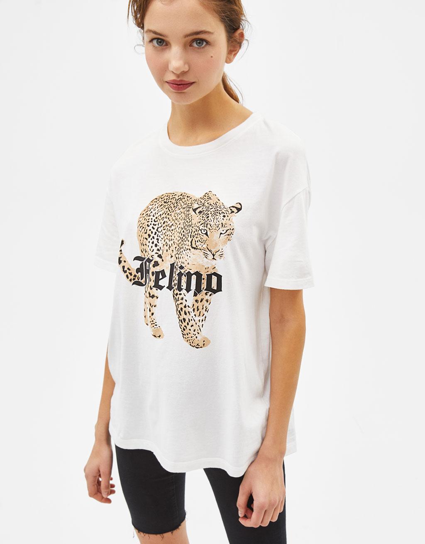 'Felino' print T-shirt