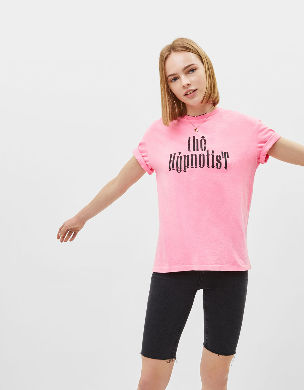 T-shirt with slogan print