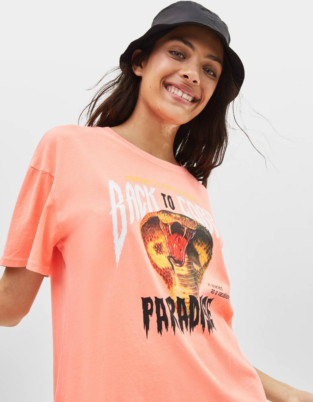 Shirt mit Kobraprint