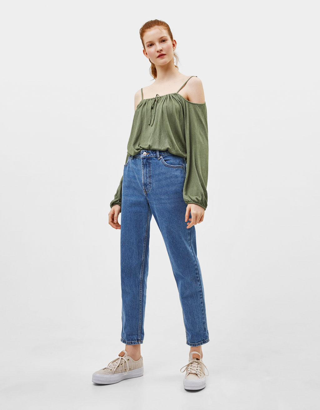 Off-the-shoulder strappy top