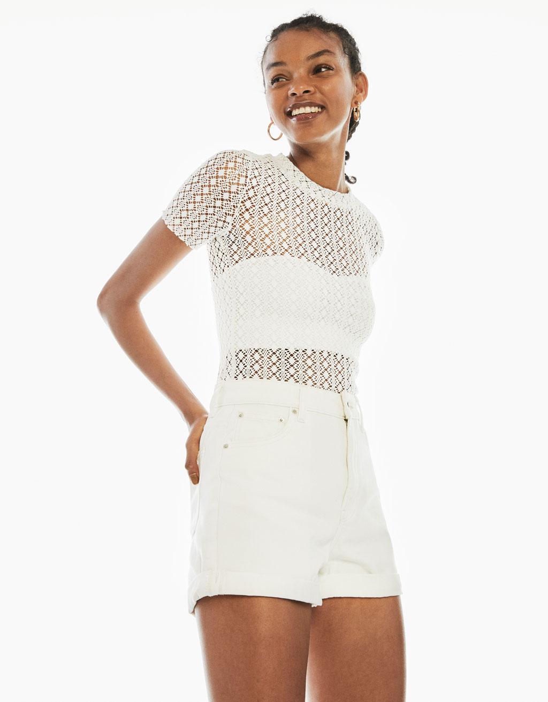 High waist mom fit shorts