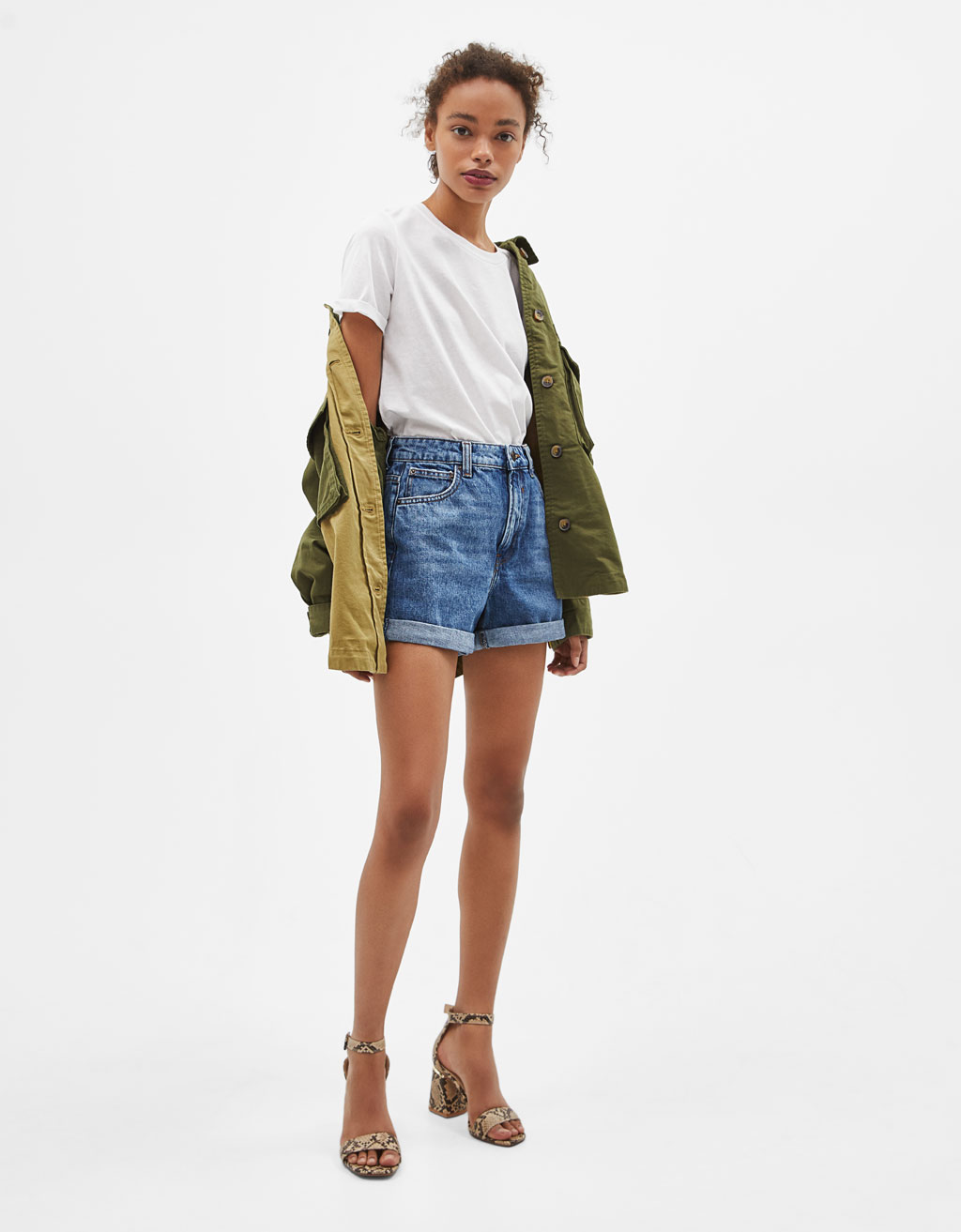 High-rise mom fit shorts