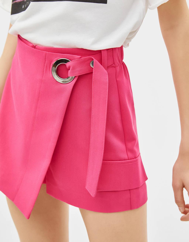 Φούστα παντελόνι με ζώνη