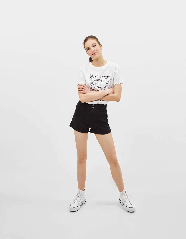 Short High Rise con cintura elástica