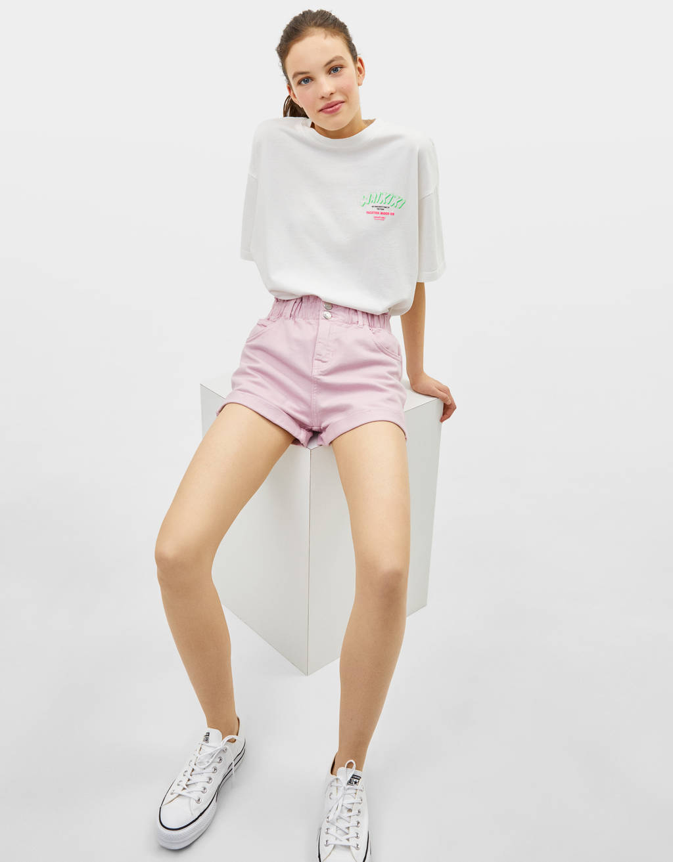 Shorts med høj, elastisk talje