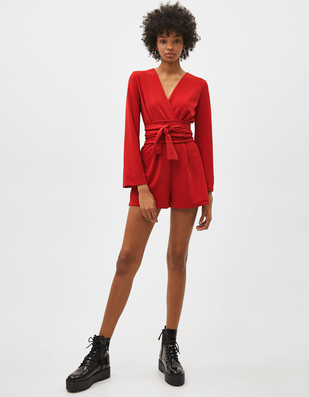 Criss-cross short jumpsuit