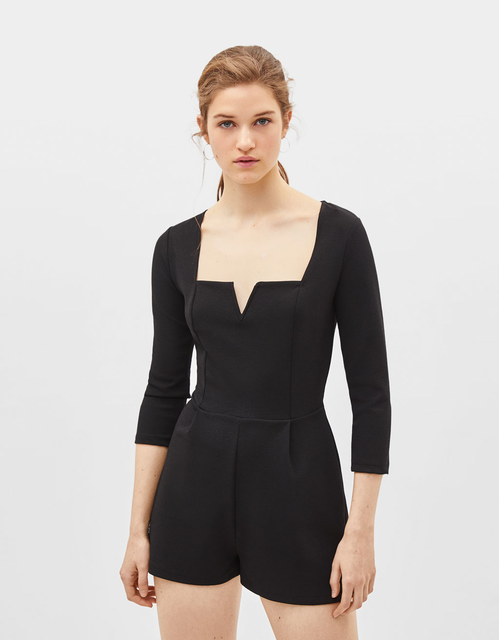 Korte off-shoulder jumpsuit