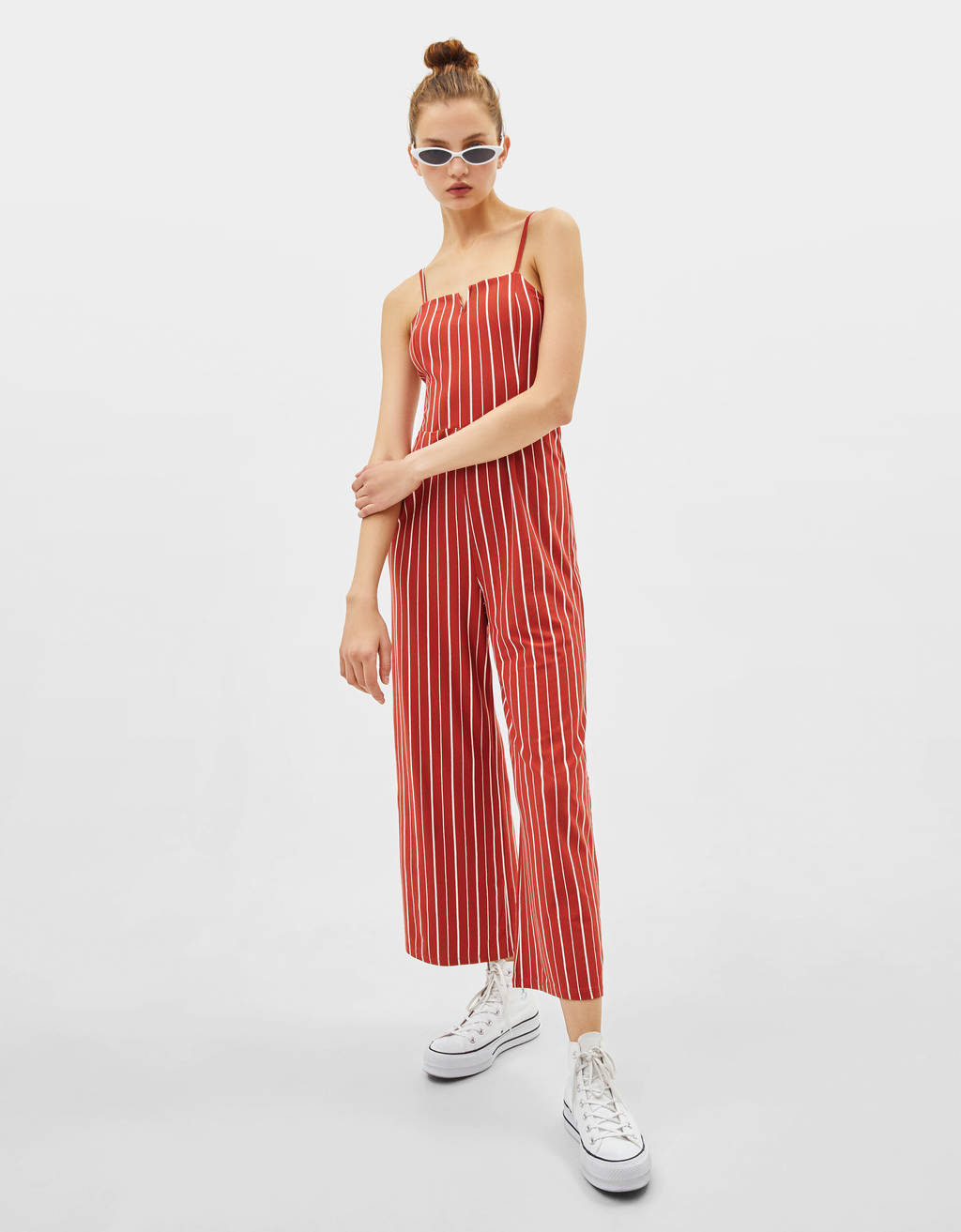 Combi-pantalon à encolure carrée