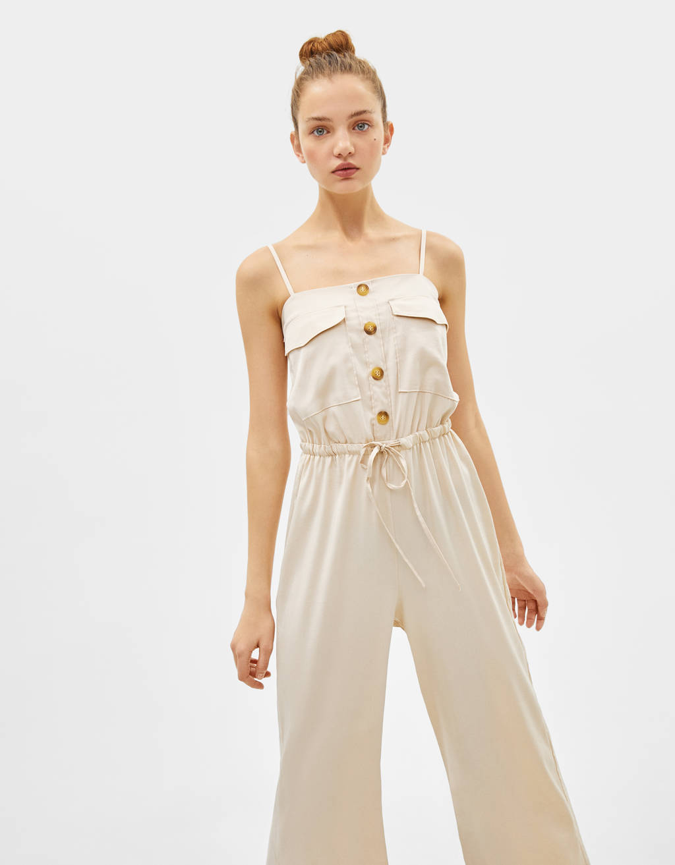 Combi-pantalon en rayonne de cellulose