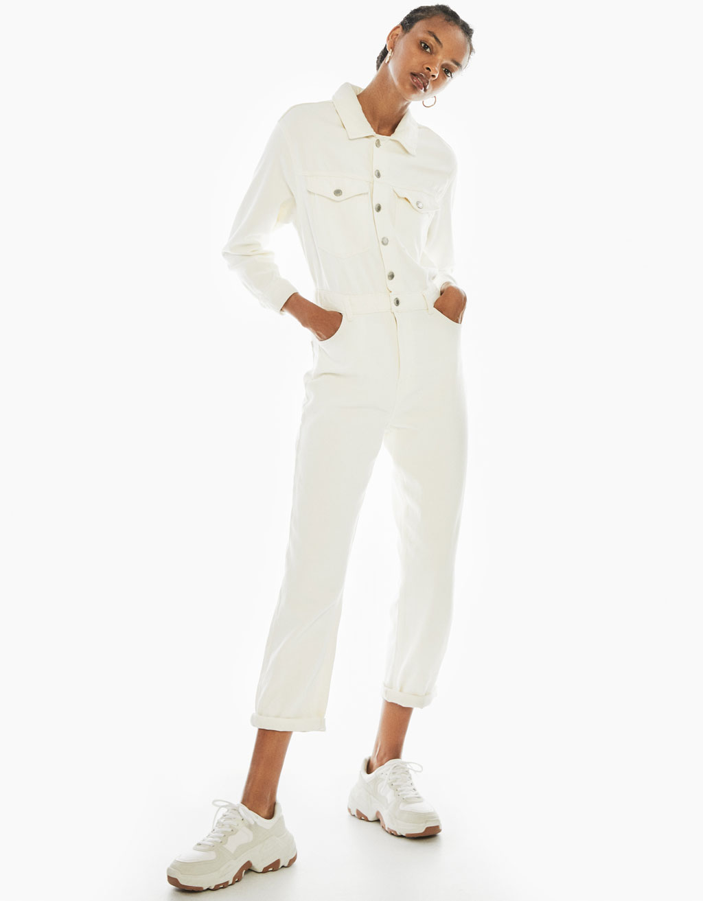 Utility jumpsuit with pockets