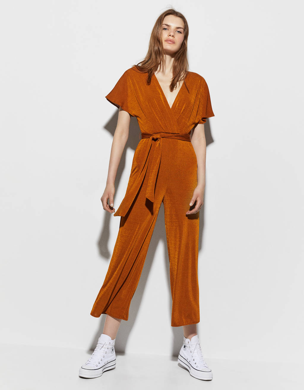 Long wrap jumpsuit