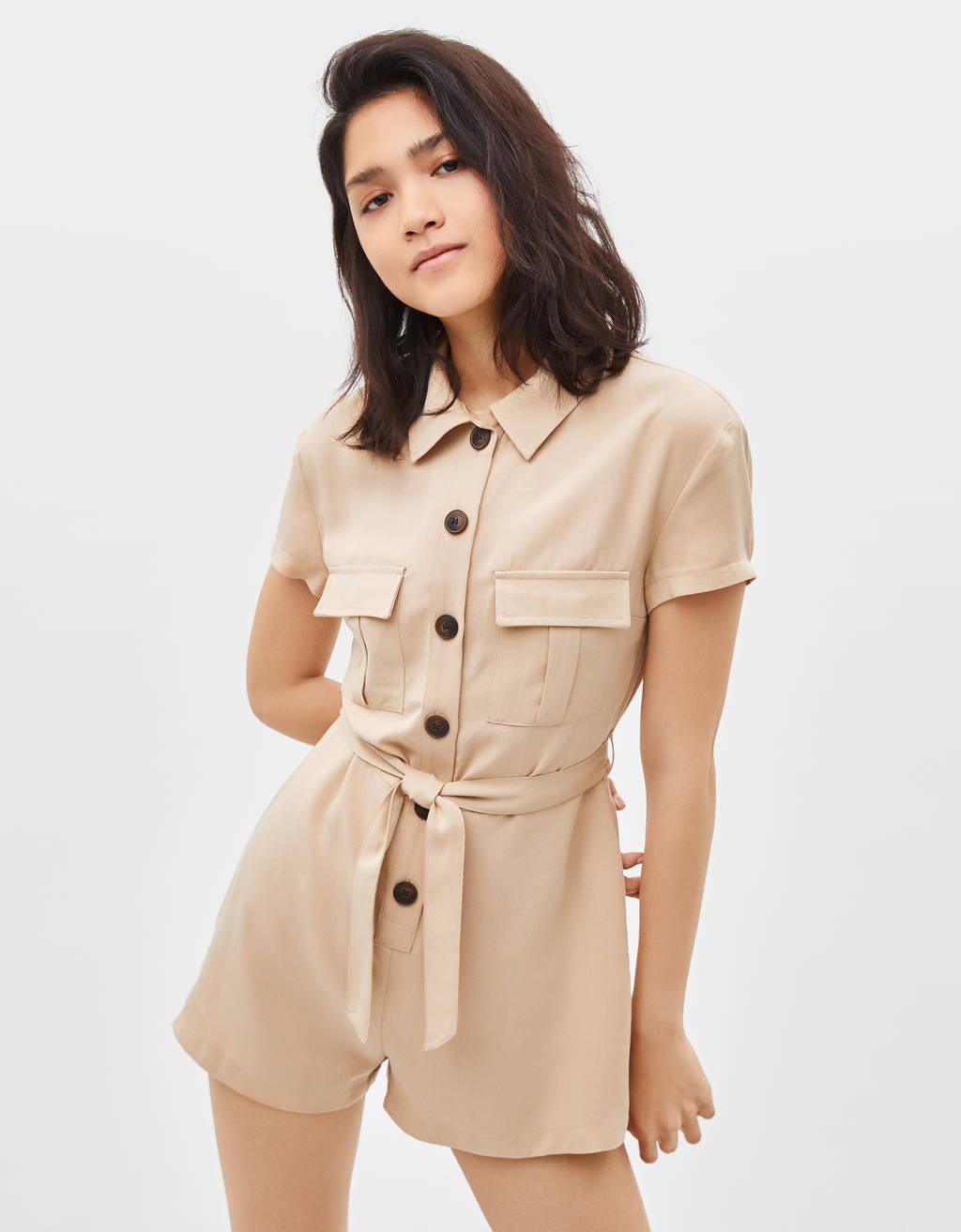 TENCEL® utility playsuit