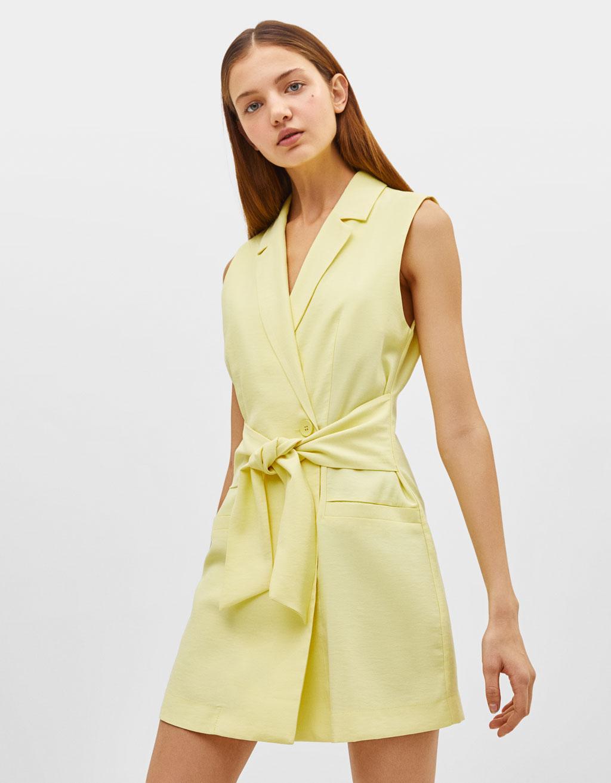 Belted blazer-style dress