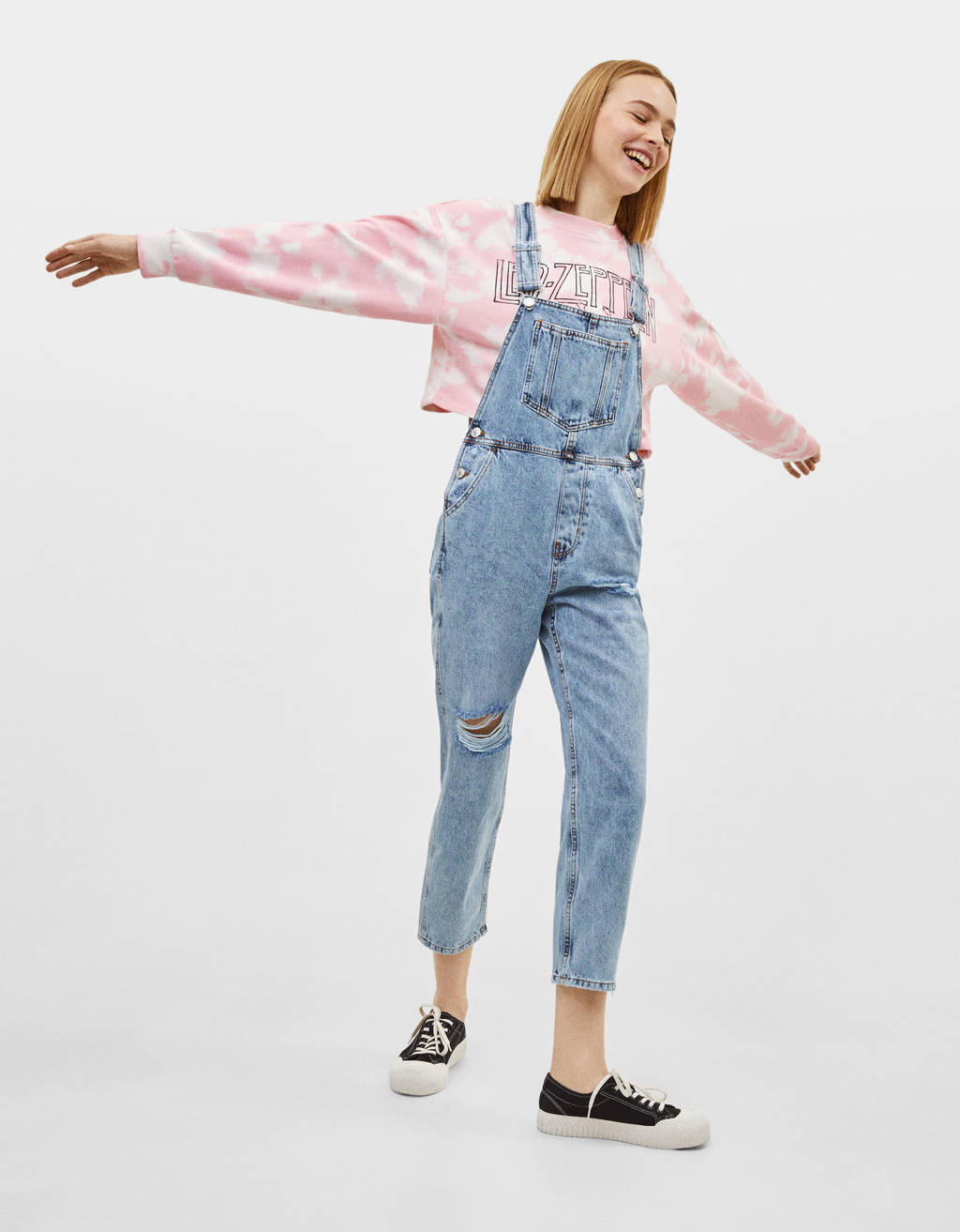 uk availability 5a2b5 c01a5 Salopette en jean - Robes - Bershka Algérie
