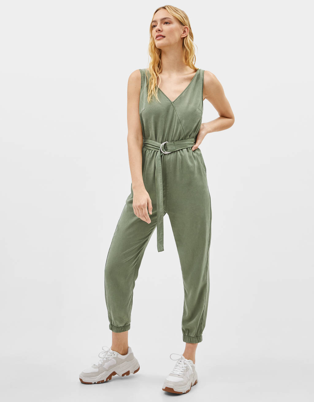 TENCEL® jumpsuit with belt