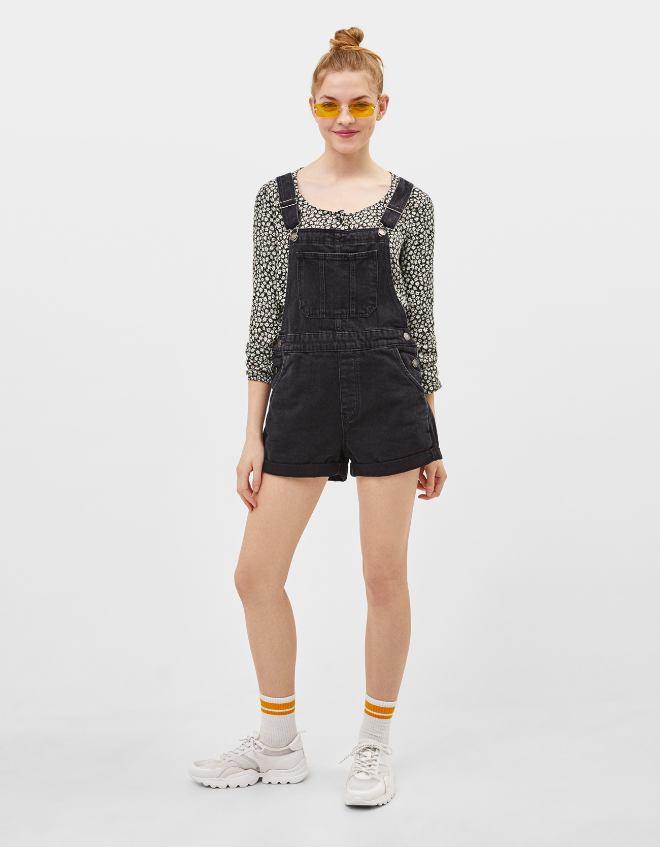 ee9c3844ba3 Short denim dungarees - CLOTHING - Bershka Serbia