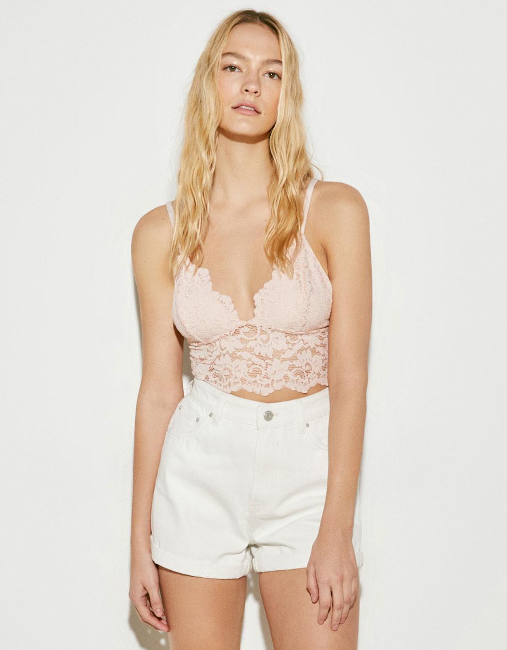 Lace-trimmed bralette