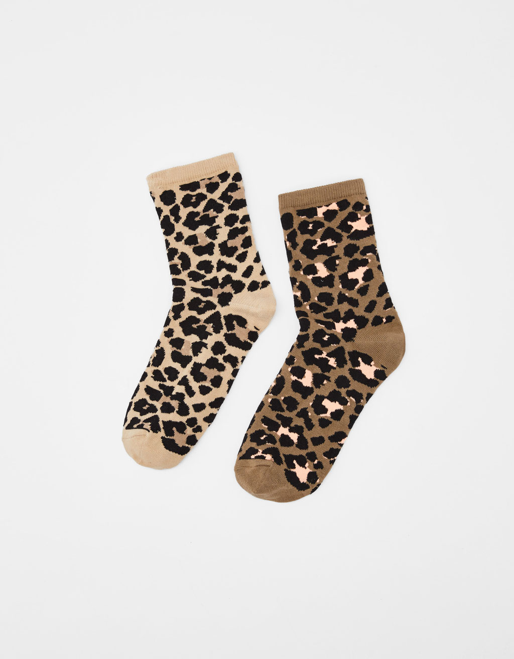 Pack 2 calcetines leopardo