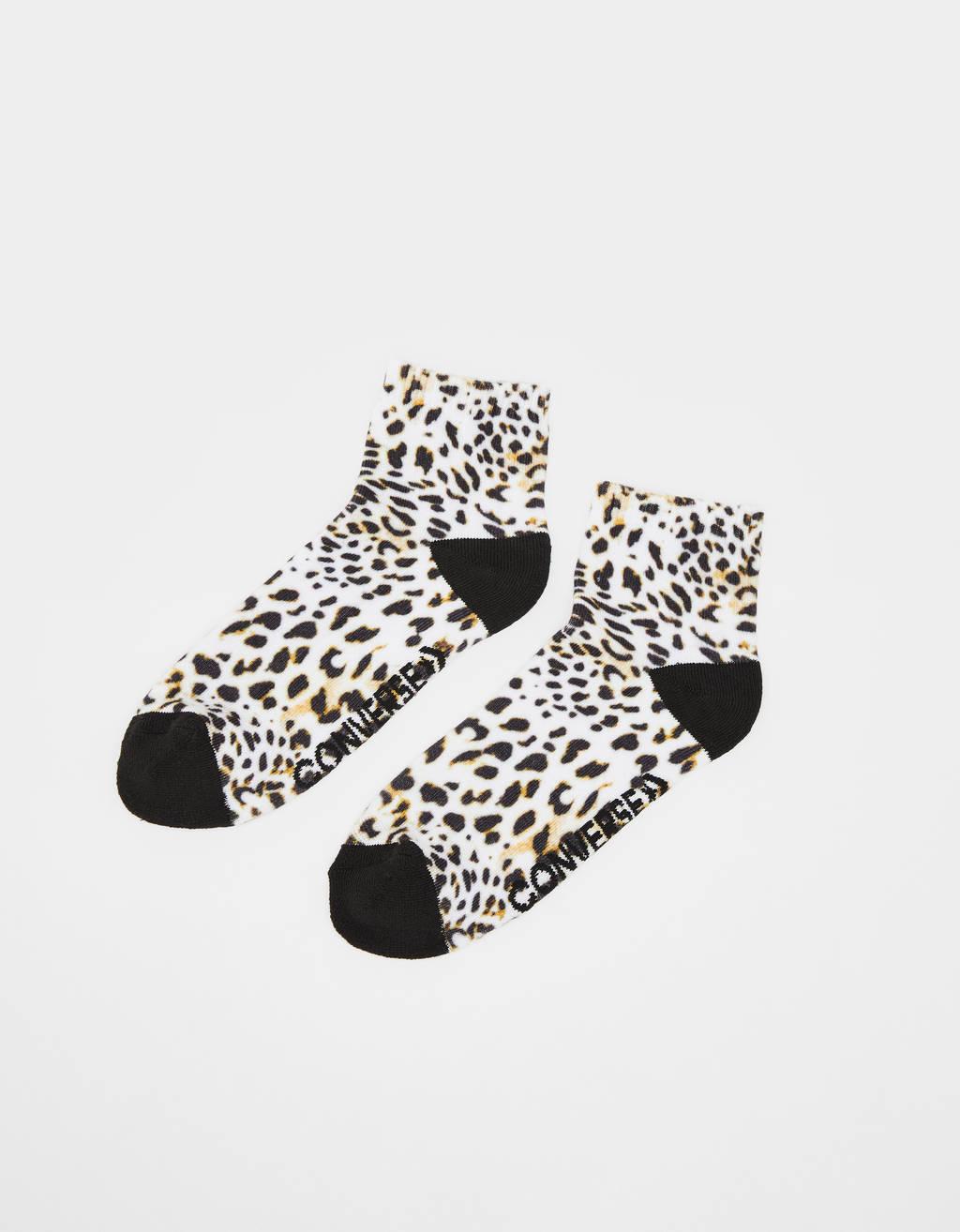 Leopardimustriga sokid
