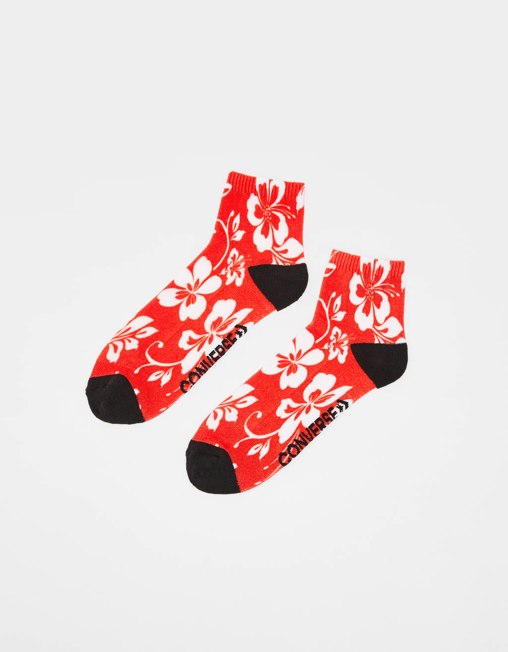 Hawaiian print socks