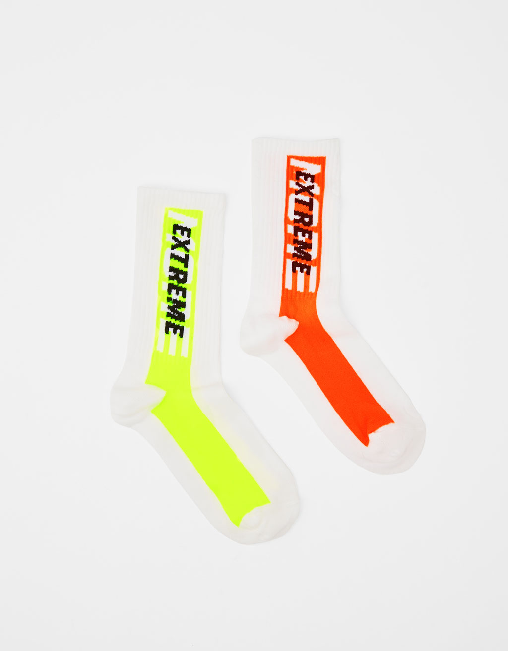 2-pack of neon socks