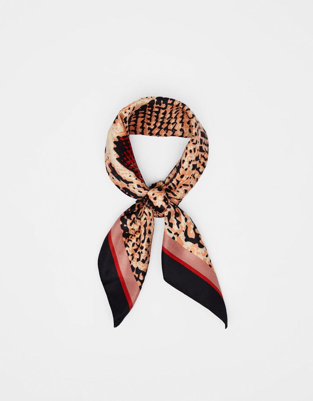 Snake print neckerchief