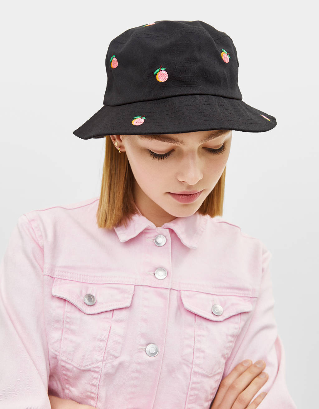 Bucket hat with print
