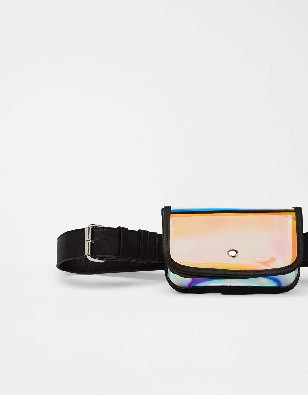 Iridescent belt bag