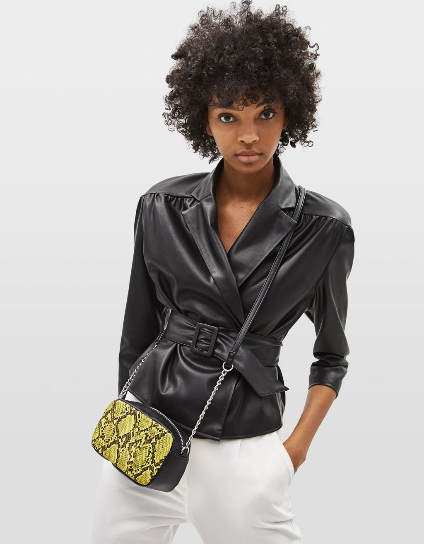 Τσάντα με μοτίβο φίδι