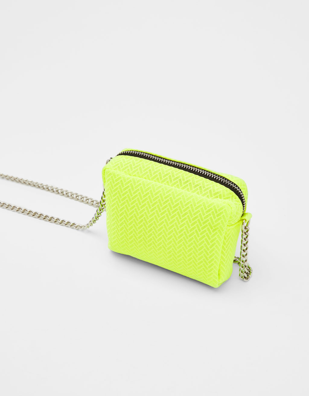 Neon bag with chain strap
