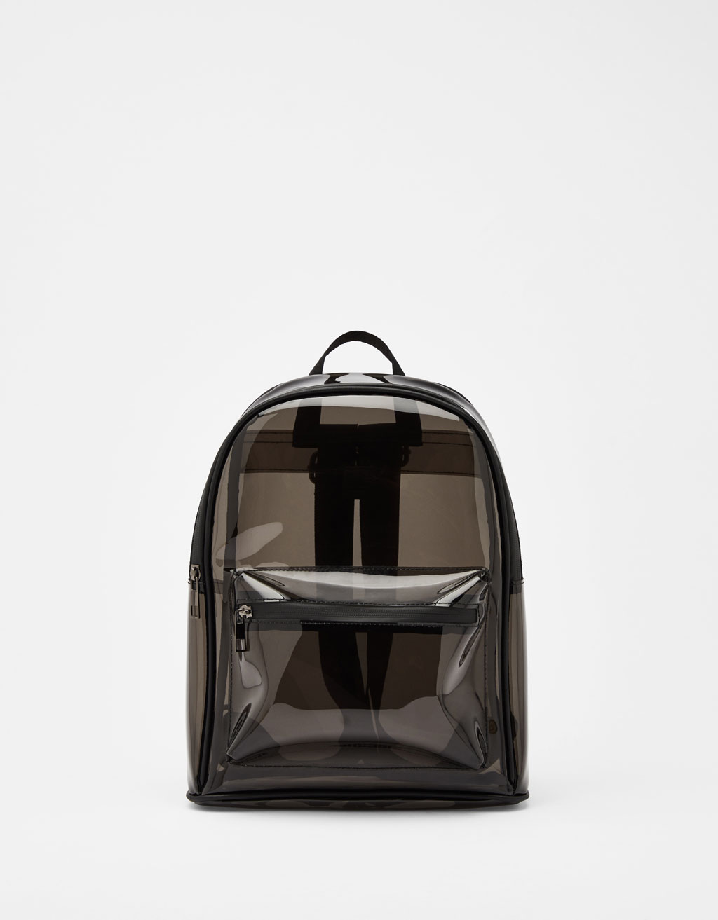 Transparent vinyl backpack