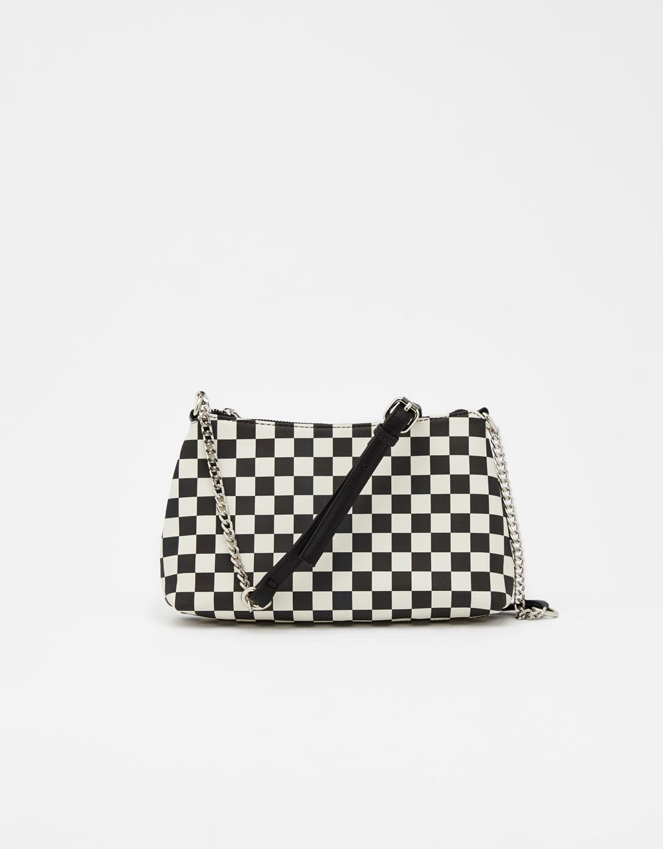Check print handbag