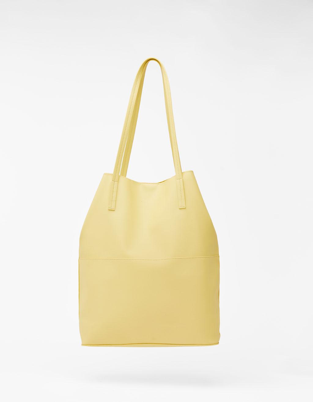 Τσάντα Shopper εφέ δέρμα