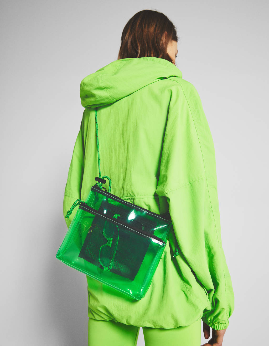 Bershka + PANTONE transparent bag