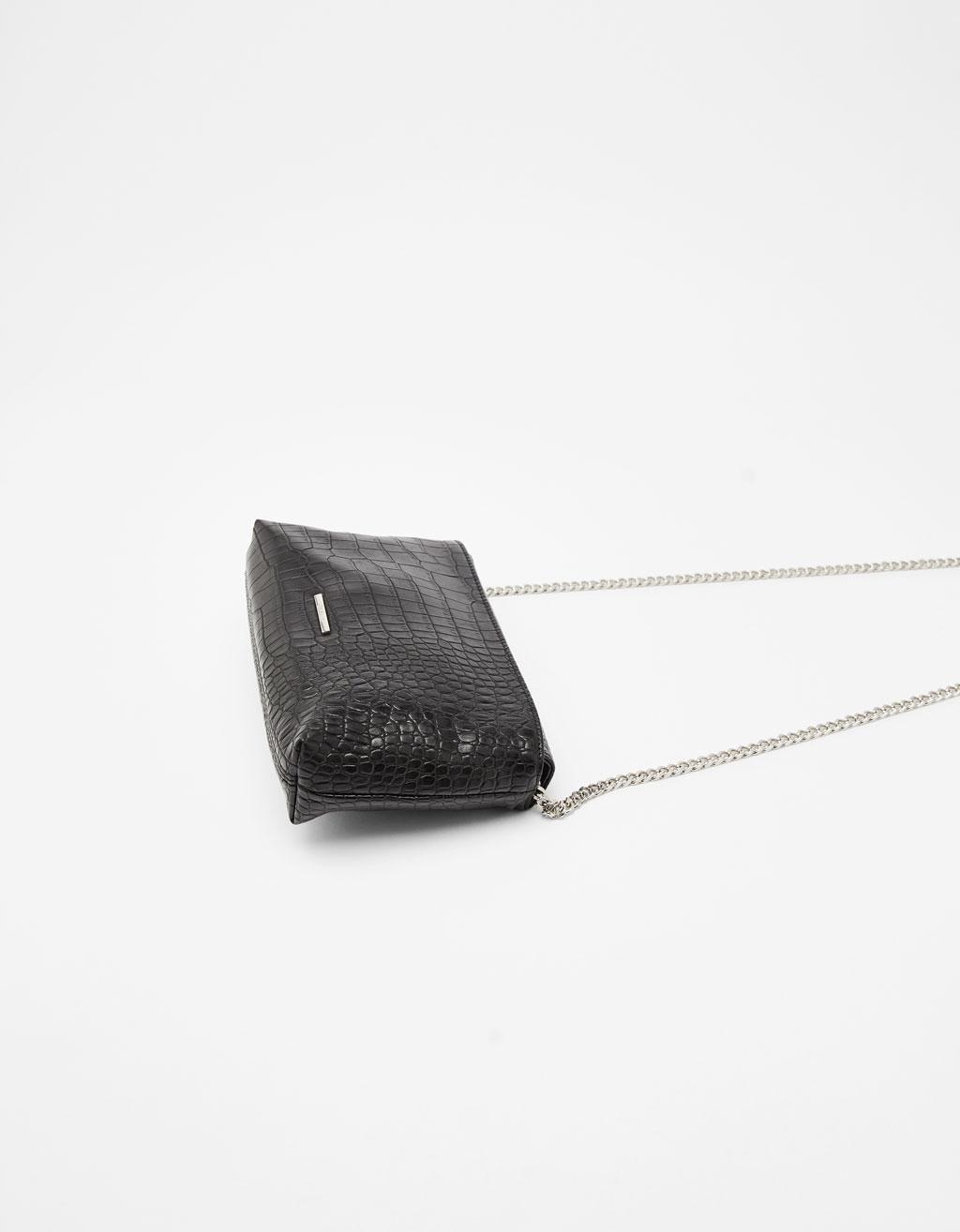 Taske med krokrodilleprægning