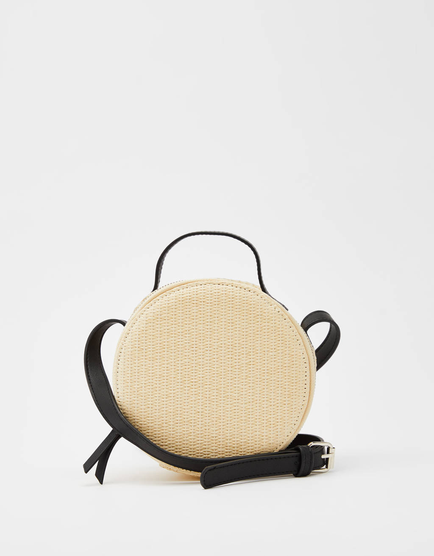 Στρογγυλή τσάντα τύπου χιαστί