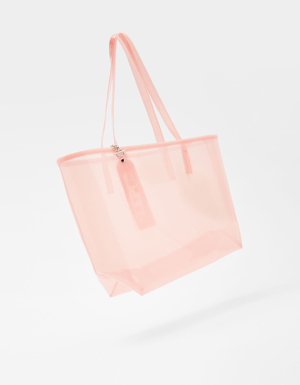 Transparent vinyl handbag