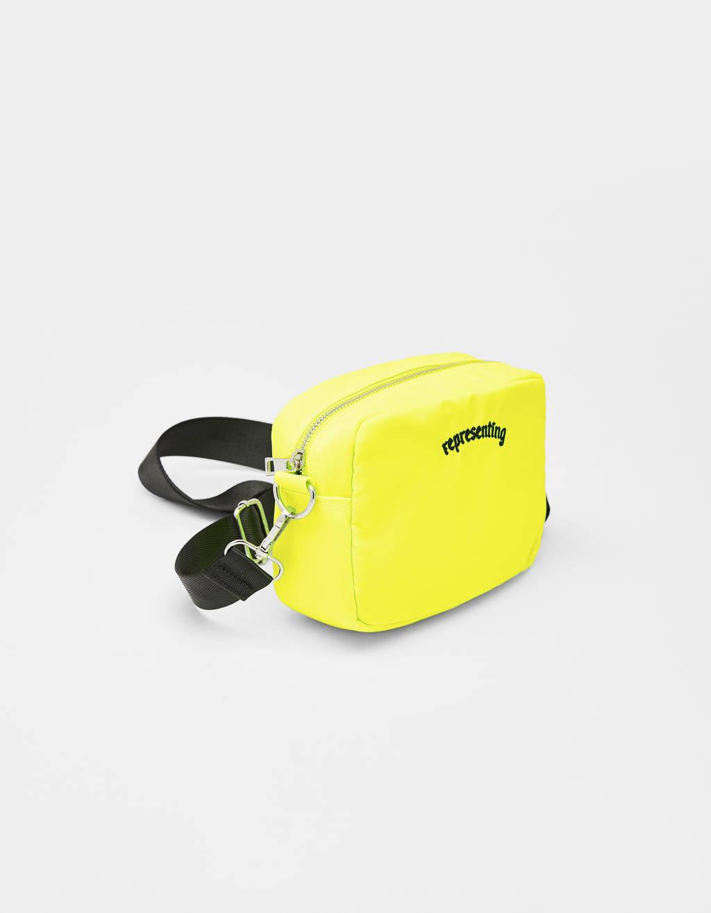 Neonfarbene Tasche aus Nylon