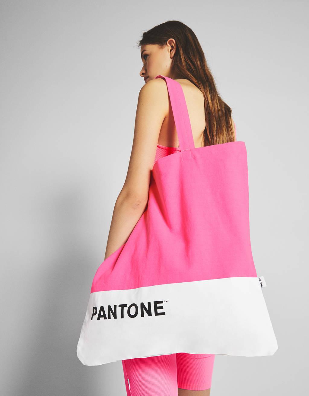 Bolso shopper Bershka + PANTONE