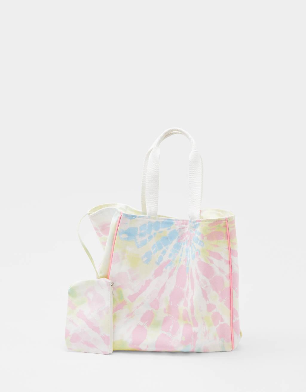 Shopper mit Batik-Print