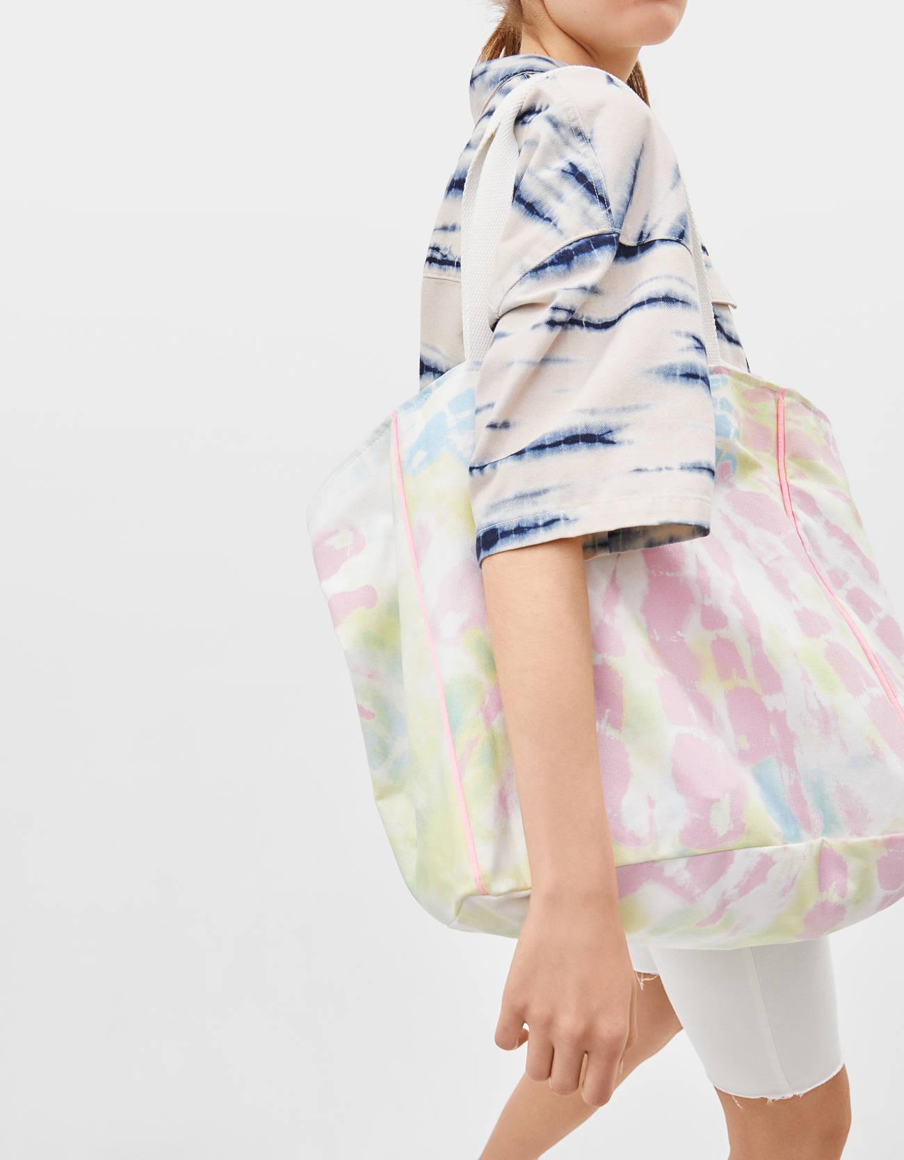 001177bcc Tie-dye tote bag - New - Bershka Serbia