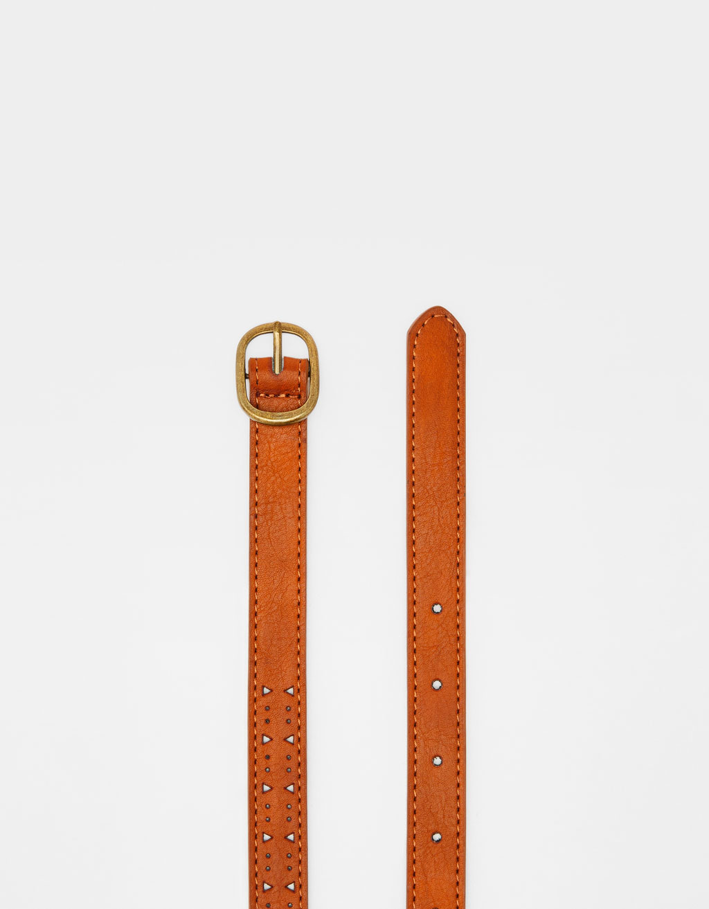 Embossed thin belt