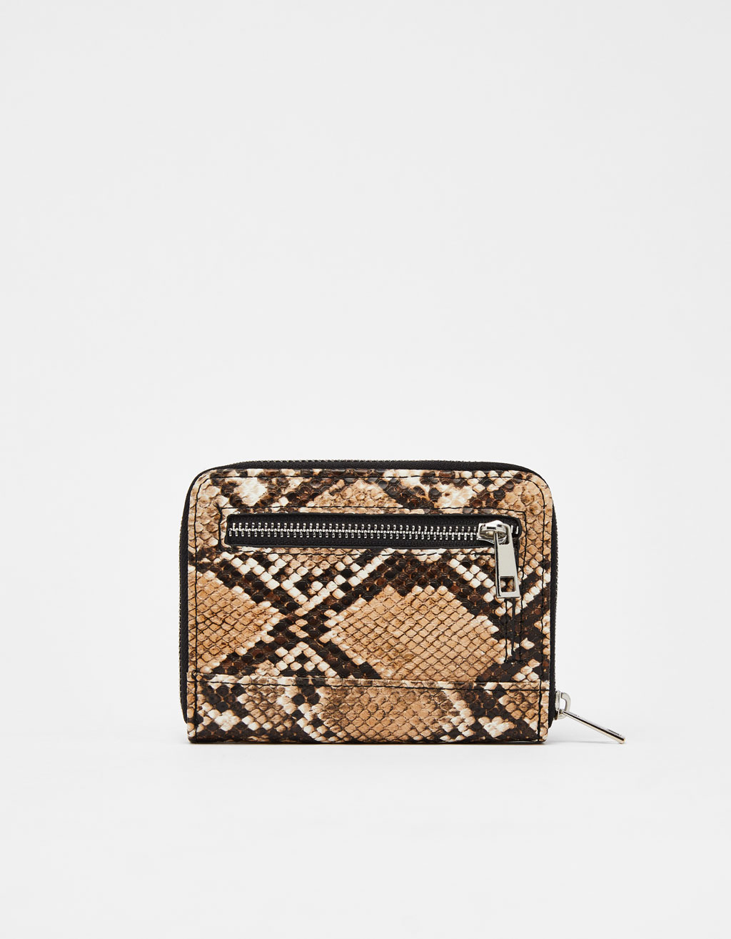 Snakeskin faux leather purse