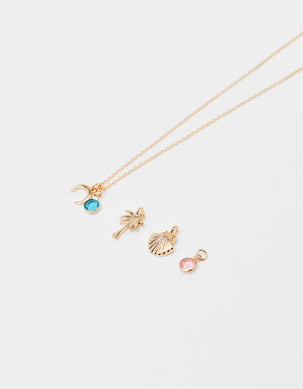 Set of multi-charm necklace
