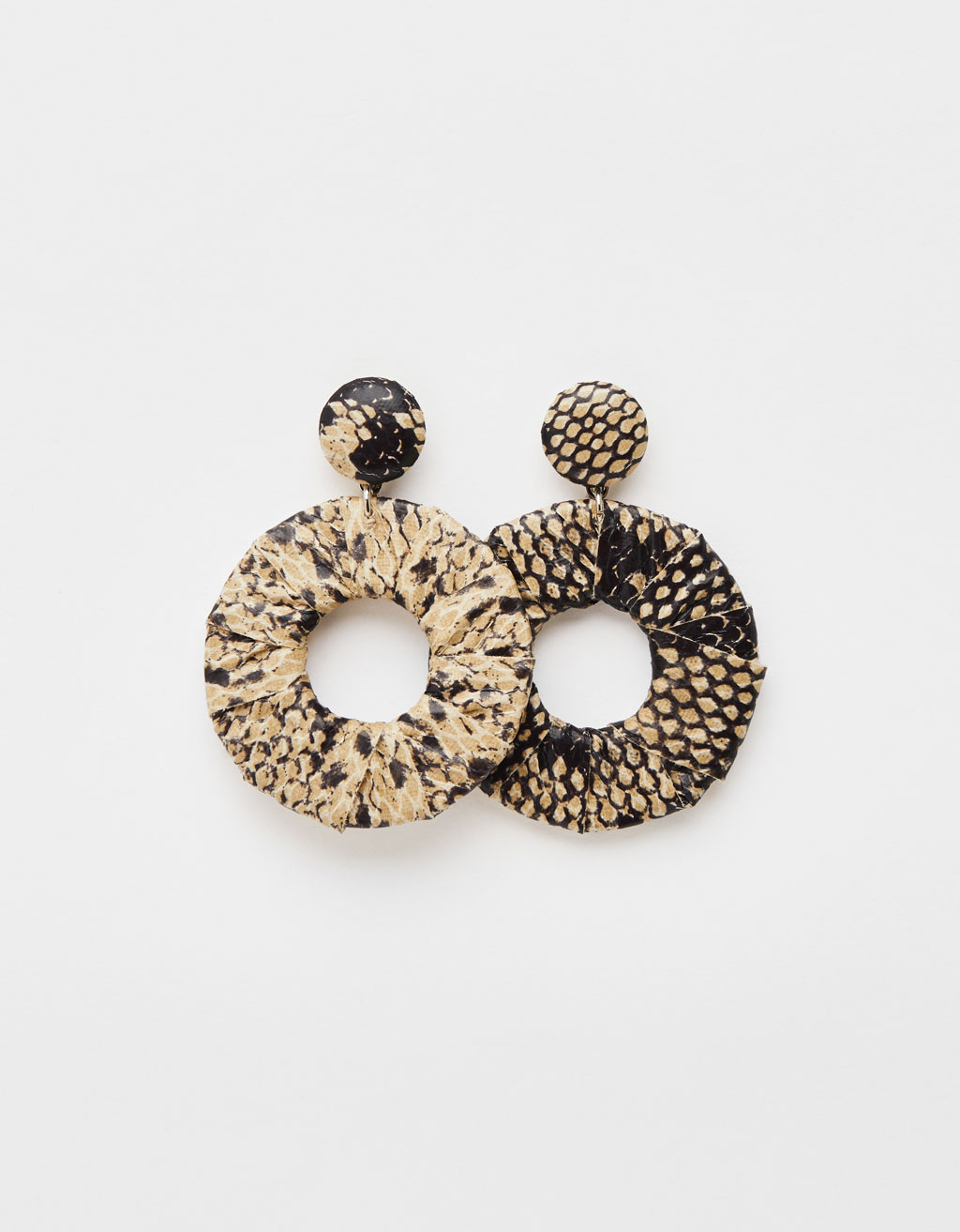 Snakeskin print maxi earrings