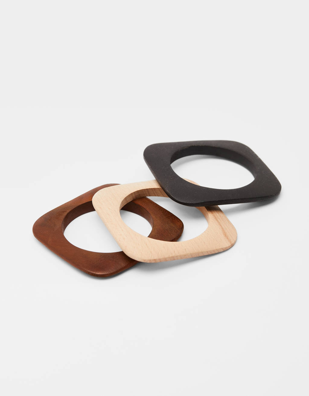 Set of wooden bracelets
