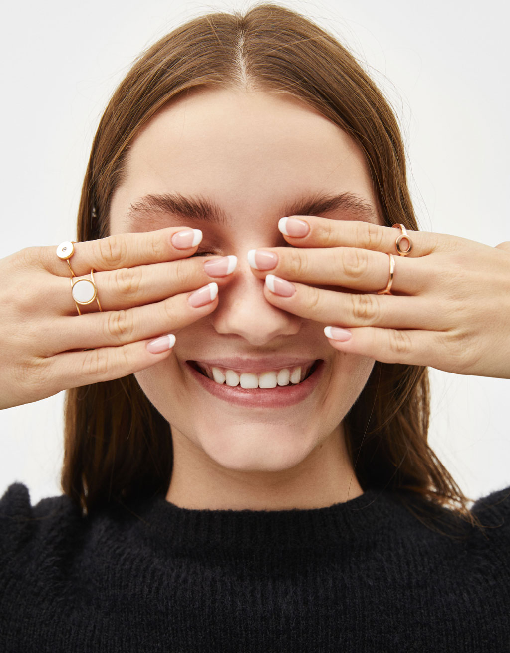 Set of diamanté rings