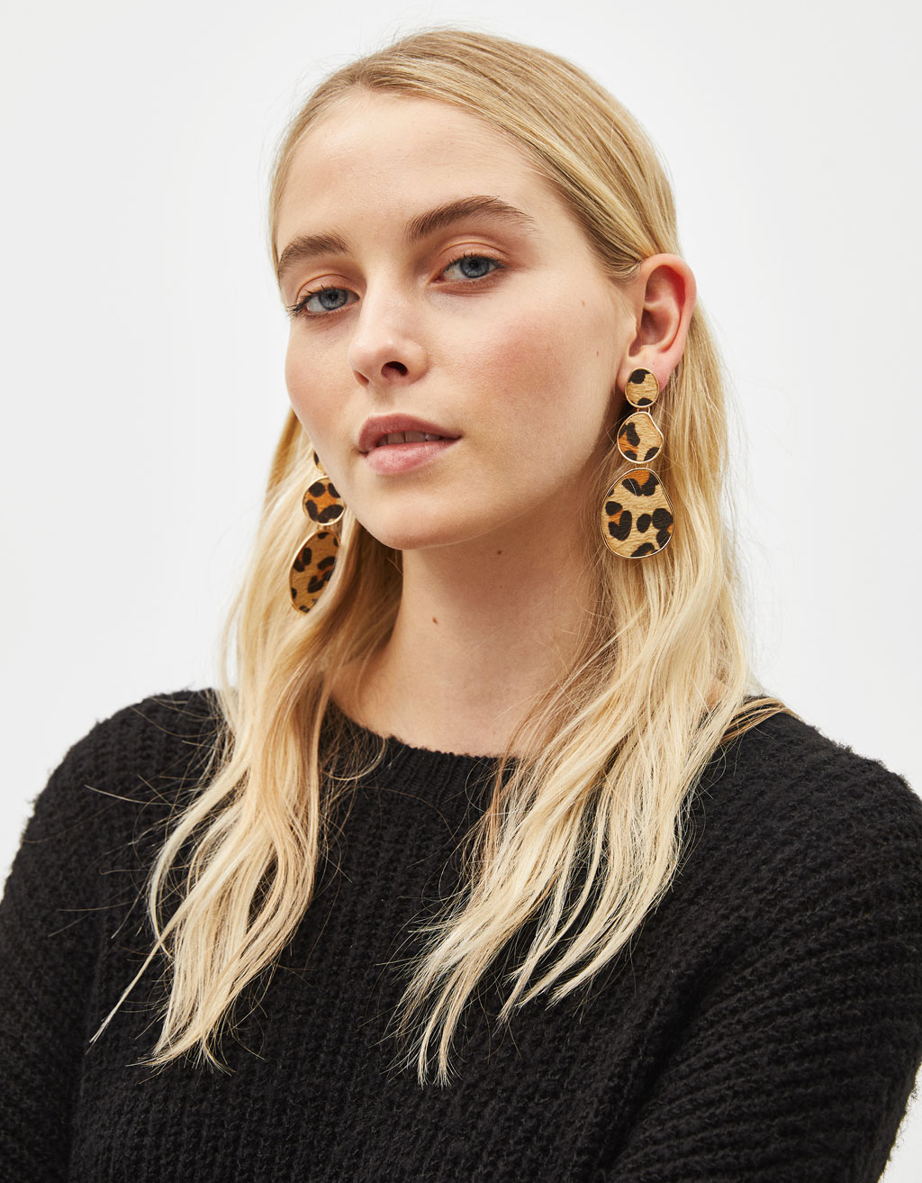 Maxi leopard print earrings
