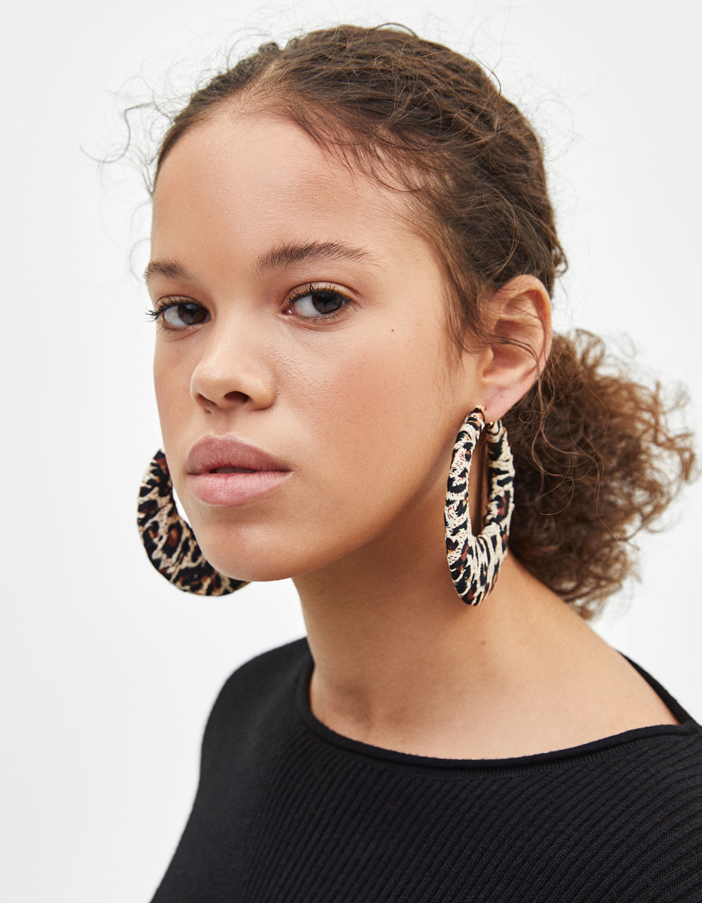 Maxi leopard hoop earrings